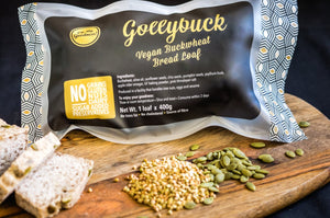 Gollybuck <br>The vegan (and nut-free!) <br> buckwheat bread