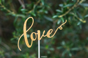 Gold 'Love' Topper
