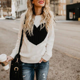 Long Sleeve Loose Knit Sweater Top