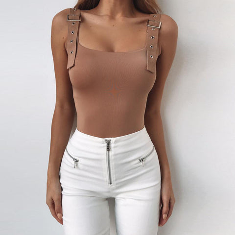 Backless High Waist Bodysuit