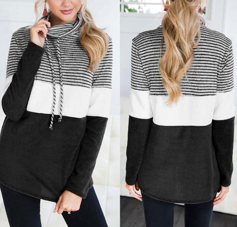 High Collar Long Sleeve Top Loose Sweater