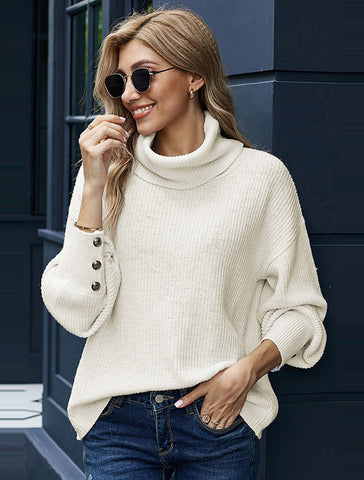 High Collar Warm Pullover Sweater