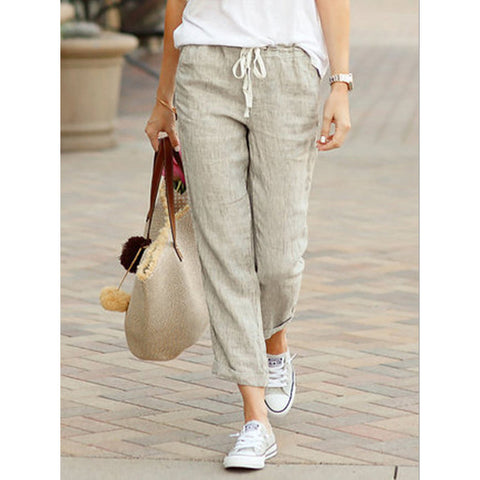 Drawstring Elasticated Waist Pants