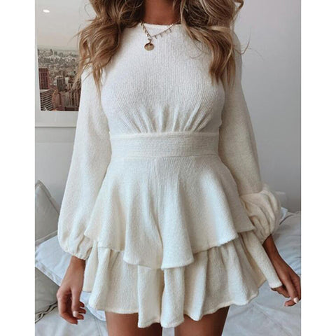 Fashion Bandage Long Sleeve Dress