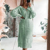 Fashion Knitted Pullover Sweater Dress