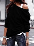 Fashion Round Neck Long Sleeve Sweater Top