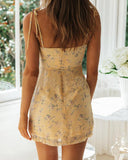 Sexy Temperament Print Strap Dress