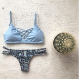 DESIGN PRINTING TWO-PIECE BIKINI