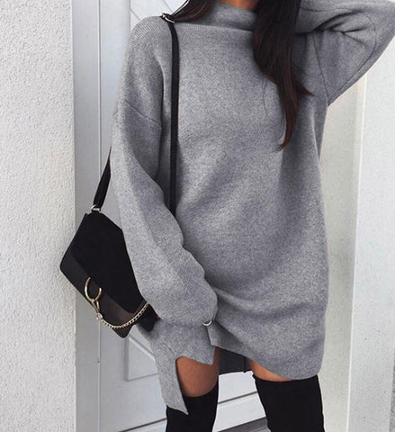 High necked Long sleeved Sweater Top