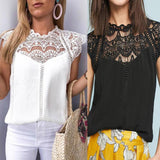 Crochet Lace T-shirt Top