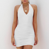 V-Neck Halter Sexy Dress