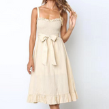 Sling Sleeveless Bow Dress