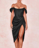 Women's Irregular Split Evening Dress