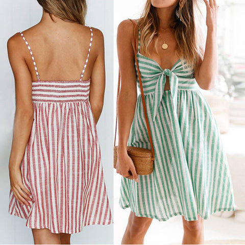 Sexy Sling Butterfly Stripe Dress