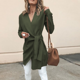 Fashion V-Neck Long Sleeve Jacket