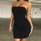 Women'S Sexy Wrapped Chest Bag Hip Dress