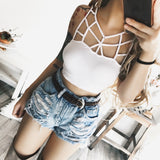 Womens Bustier Crop Top Vest Casual Tank Tops Blouse T-Shirt