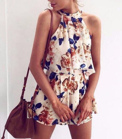 Fashion Printed Chiffon Two-Piece Set