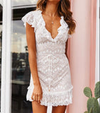 Fashion V-Neck Lace Dress