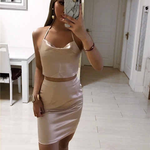 Sleeveless Two-Piece Set Of Dress