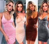 Sexy  V-Neck Short Dress
