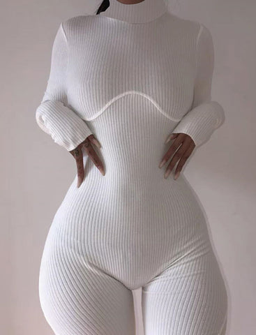 Long Sleeve Jumpsuit Sports Shorts