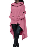 Irregular Hooded Sweater Top