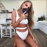 Sexy Women Solid Color One Piece Bikini Swimwear