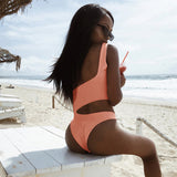 Sexy One-Shoulder Jumpsuit Swimsuit