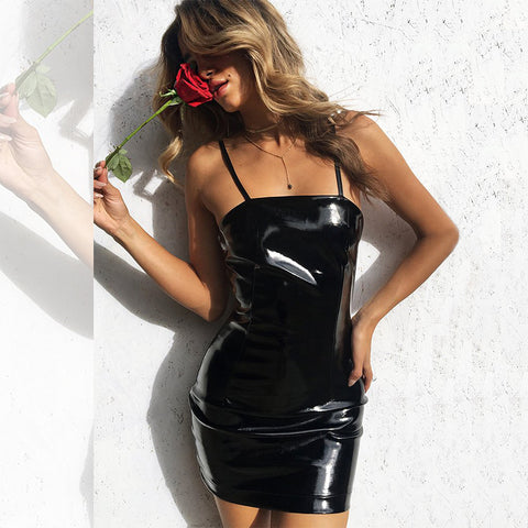 Suspender Mini Sexy Bag Hip Dress