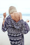 Casual long-sleeved cardigan printing shirt