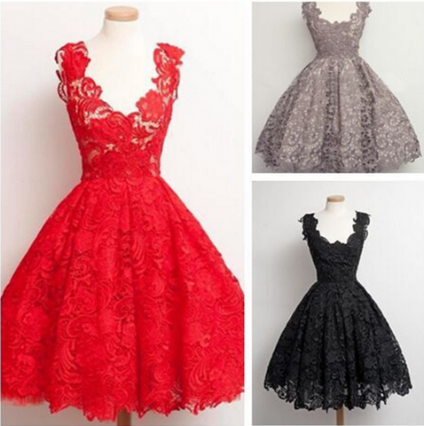 SLIM LACE SLEEVELESS PRINCESS DRESS