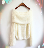 Loose Long-Sleeved Knit Sweater