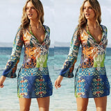 Design Printing Chiffon Dress