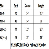 Hoodie Plush Color Block Pullover Sweater