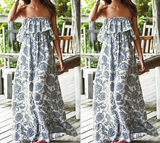 Fashion Printed Chiffon Princess Dress