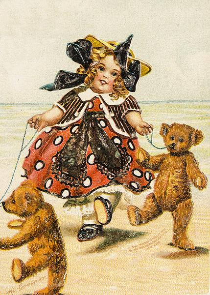 Section E 1. Best Artist Bear/Animal and Antique Bear/Animal together. Two characters from a children's book.