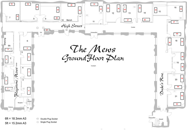 2. The Mews Ground Floor. Flagstone Mews 6' Shop 1, 2, 3, 4 and 5