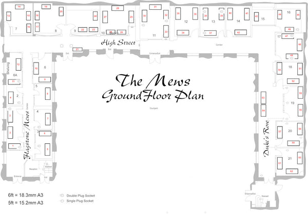 Exhibition Floor Plan-The Mews.