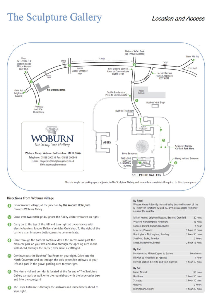 Getting to Woburn Abbey for Exhibitors only