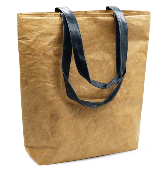 Everyday Tote Bag with Blue Handles