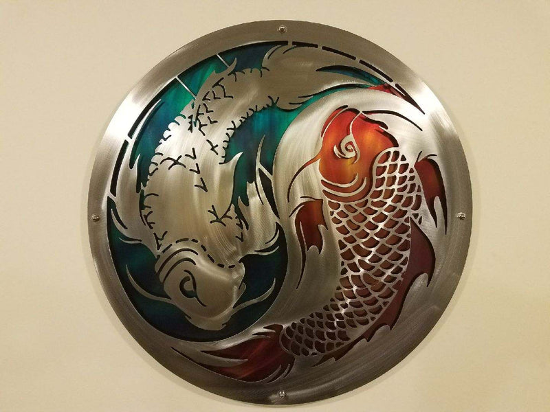 Koi Fish Ying Yang / Double Layered