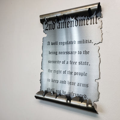 2nd Amendment Scroll / Laser Etched