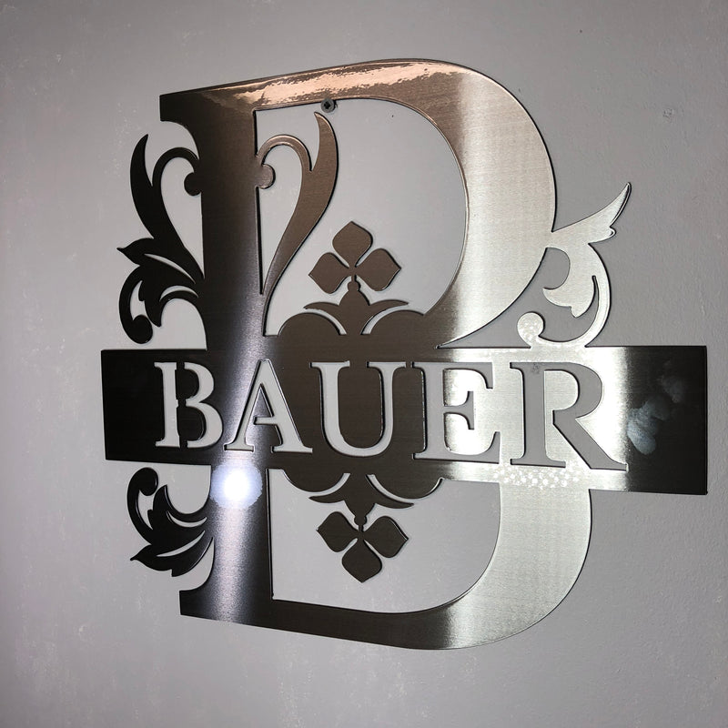 Split Letter Stainless Steel Monogram