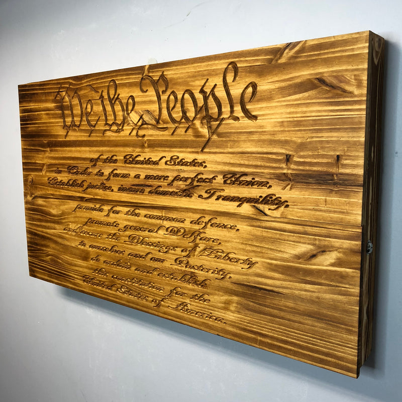 """CARVED"" 2nd Amendment / Constitution Freedom Cabinet"