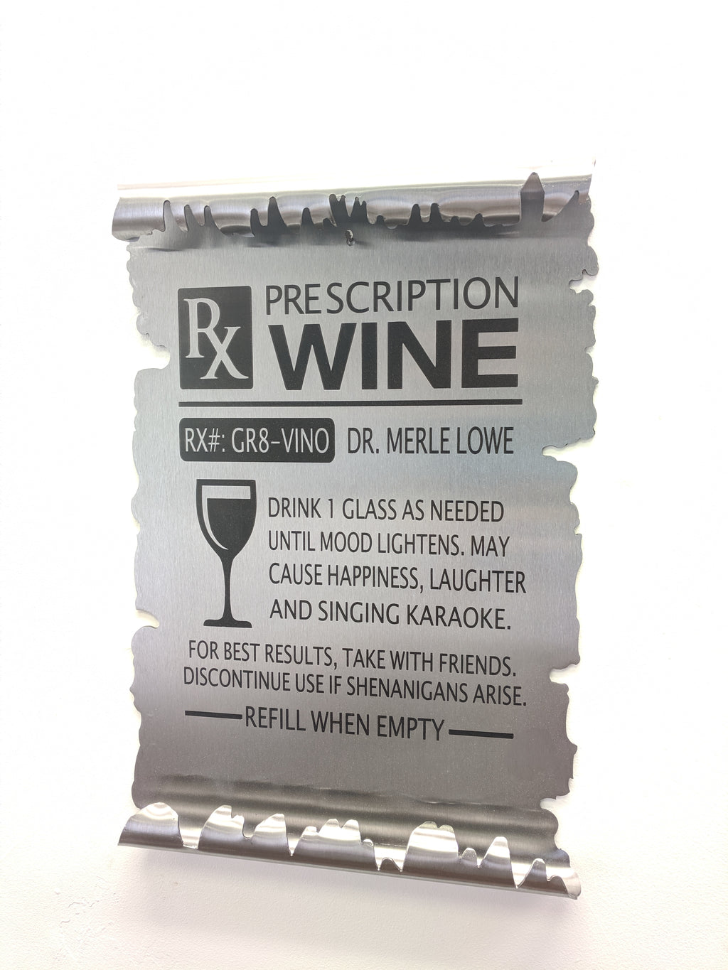 RX Wine Metal Scroll