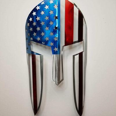 US Flag Spartan Helmet / Wall Mounted