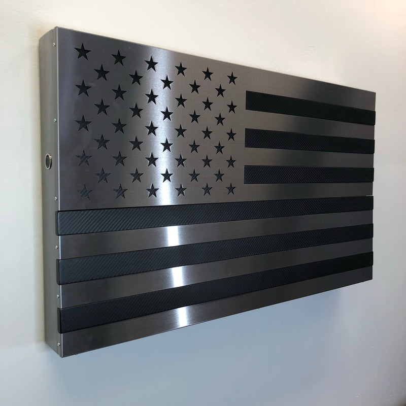 "The ""Beast"" Real Carbon Fiber all Steel Strong Box Freedom Cabinet"
