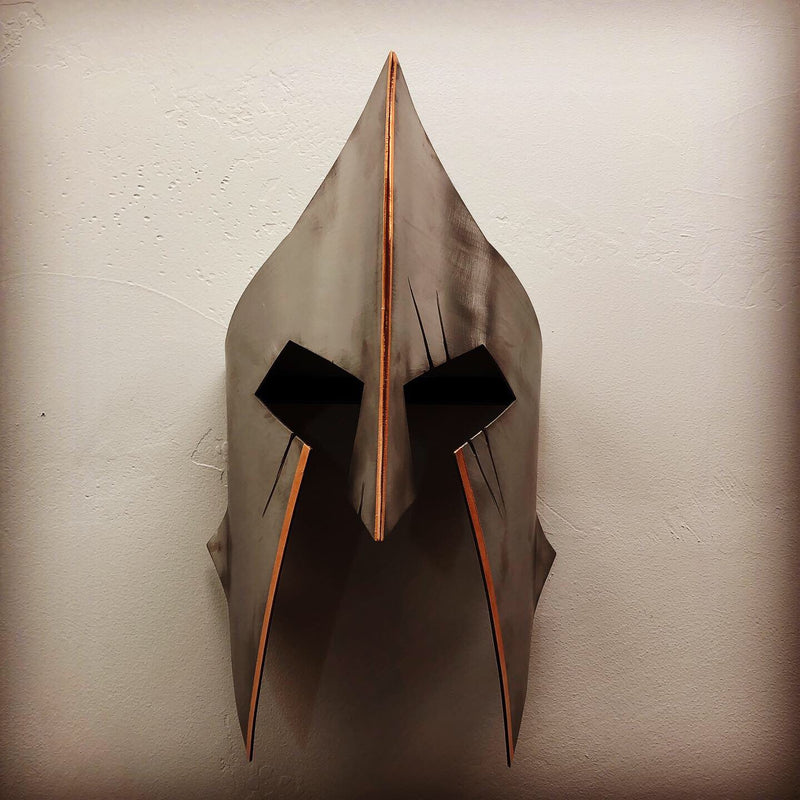 Wall Mounted Steel 3 Dimensional Spartan Helmet
