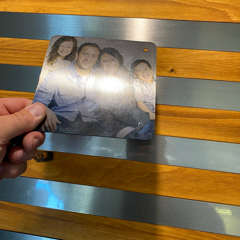 Personalized Steel Photo Plaque